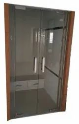 Plain Glossy Puja Room Glass Door, For Home, Thickness: 10 mm