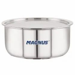 Magnus Triply Stainless Steel Topes With Stainless Steel Lid And Induction Bottom, 14 Cm/1.1 L