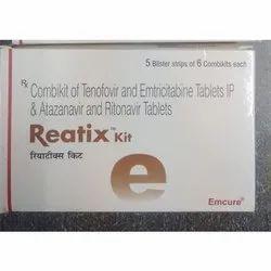 Reatix Kit( Tenofovir Disoproxil Fumarate  + Emtricitabine  + Atazanavir  + Ritonavir