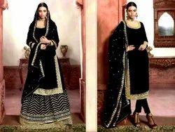 Designer Salwar Suit With lahenga
