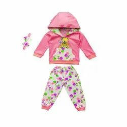 Girl & Boy Full Sleeve T Shirt With Hood With Full Pant