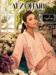 Cotton Unstitched Rawayat Al Zohaib Vol-3 Pakistani Fancy Suits Catalog