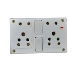 6A PVC 2 Switch Electrical Switch Board, 4