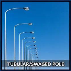 9 Mtr MS Tubular Pole