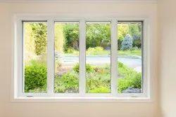 White UPVC Door and Window, Glass Thickness: 5mm
