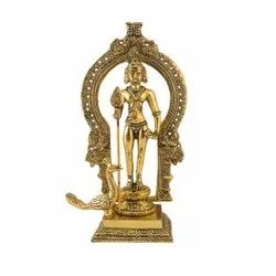 Gold Plated Lord Marugan Statue