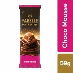 Brown Fabelle Soft Centres Choco Mousse Chocolate Bar, 59 Gm