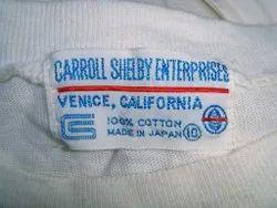 T Shirt Label Print, Printing