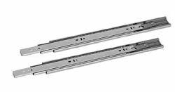 Slimline Prime Premium Ball Bearing Drawer Slide- Zinc Plated-(24 600 Mm,45 Kg Capacity,Silver)
