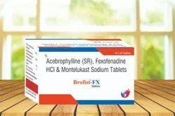 Acebrophylline 200 MG (Sr) Fexofenadine 120 MG  & Montelukast 10 Mg Sodium Tablet