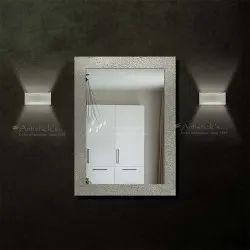 White Metal Mirror Wall Decor