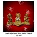 Golden Ganesh Laxmi Saraswati God Statue