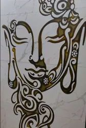 Glossy Finish Buddha Printed Wall Tiles, Thickness: 10 mm, Size: 30x45 cm