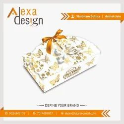 Paper Rectangle Decorative Chocolate Packaging Box, For Gift & Crafts, Box Capacity: 250g