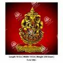 Gold Metal Kala Ganesh ji God Statue
