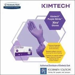 KIMTECH SCIENCE Purple Nitrile-Xtra Exam Gloves, ( 97612-Medium, 97613-Large )