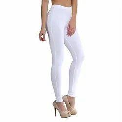 White Plain Cotton Legging