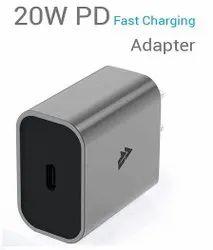 Usb Type C Grey 20Watt iPhone Android Charging Adapter, 5Volt
