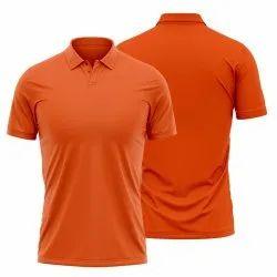 Plain Orange Polo T Shirt