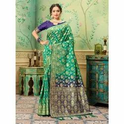 Stylewell Festive Wear Banarasi Silk Weaving Fancy Saree, 6.3 m (with blouse piece)