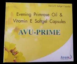 AVU-Prime Evening Primrose Oil 500mg+Vitamin E 100mg Softgel Capsule 10x1x10