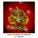Metal Kala Golden Lord Ganesha God Statue