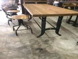 ancient works Dimensions: 2.25*4*3.5 Feet Industrial Dining Table