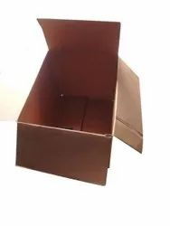 Double Wall 5 Ply Plain 10 Kg Brown Corrugated Box