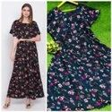 Long Crepe Gown With Zalar Pattern Top