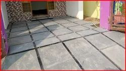 Slab Grey Natural Tandoor Stone, Thickness: 18 mm, Size: 23x23mm