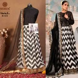 Gerogette Gown With Dupatta