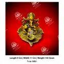Metal Kala Ganesh ji God Statue