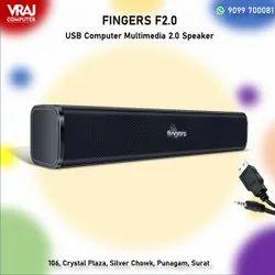 Black Fingers USB 2.0 Speaker F2.0, For Office