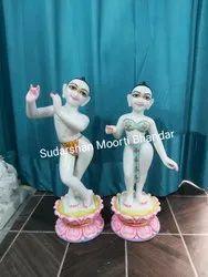Marble Isckon Radha Srishna Statue