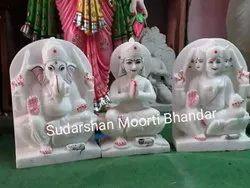 Marble Shivparivar Statue