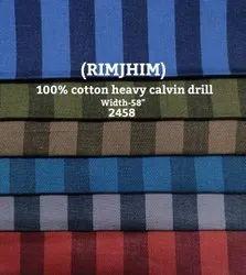 Rimjhim 100% Hervy Calvin Drill Shirting Fabric
