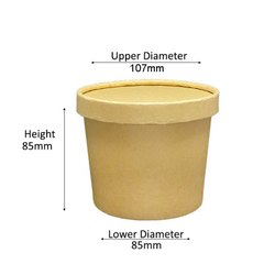 500 ml kraft paper Container with lid