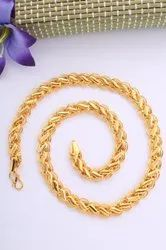Golden Brass Lotus Koyli Imitation Chains, Size: 18inch