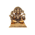 Gold Plated Punchmukhi Hanuman Ji Idol For Home & Corporate Gift
