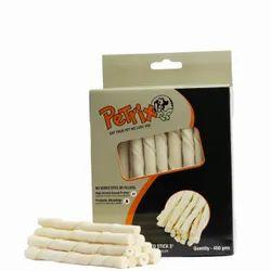 """宠物食品固体扭曲棒5""""白色,数量每包:450克,包装类型:盒"""