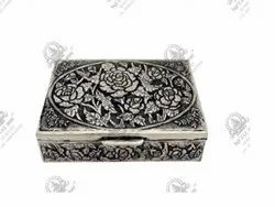 Rectangle Flower Silver Plated Artifacts