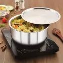 Magnus Triply Stainless Steel Tope With Stainless Steel Lid And Induction Bottom, 18 Cm/ 2.3 L