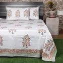 Hand Block Printed Cotton Bedsheet