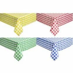 Classic Checked Yarn Dyed Tablecloths, Size: 90 X 90