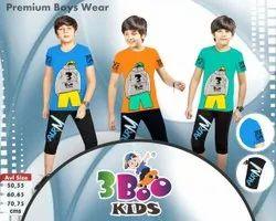 Multicolor Girl & Boy Boys Capri Suits
