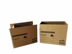 Brown 3 Ply Printed Corrugated Box