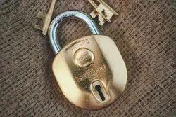Golden REMI BRASS BAHUBALI PADLOCK, Padlock Size: 65 mm