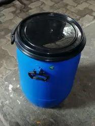 Round Saiviron Plastic Drum Barrels, Size: 575x375x320mm, Capacity: 50 Litres