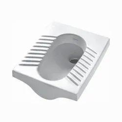Open Front White Orissa Pan 20 Varmora Indian Toilet Seat, For Sanitation