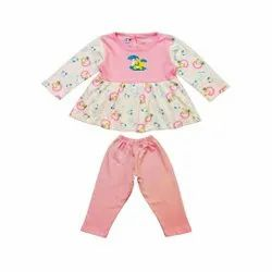 Full Sleeve Frock with Full Pant For Baby Girls